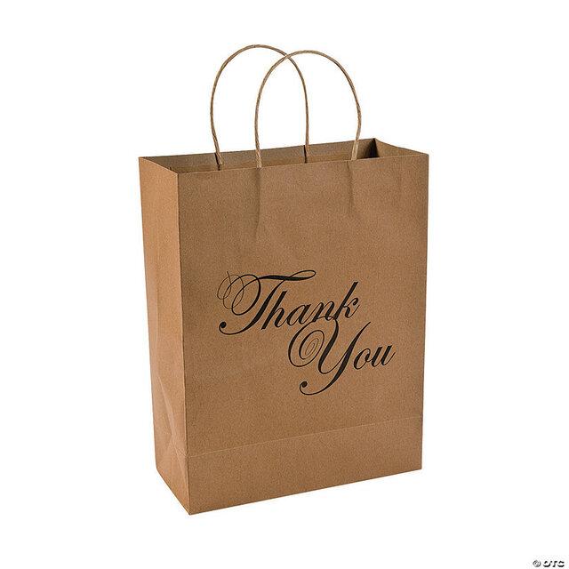 return guest thank you paper bag